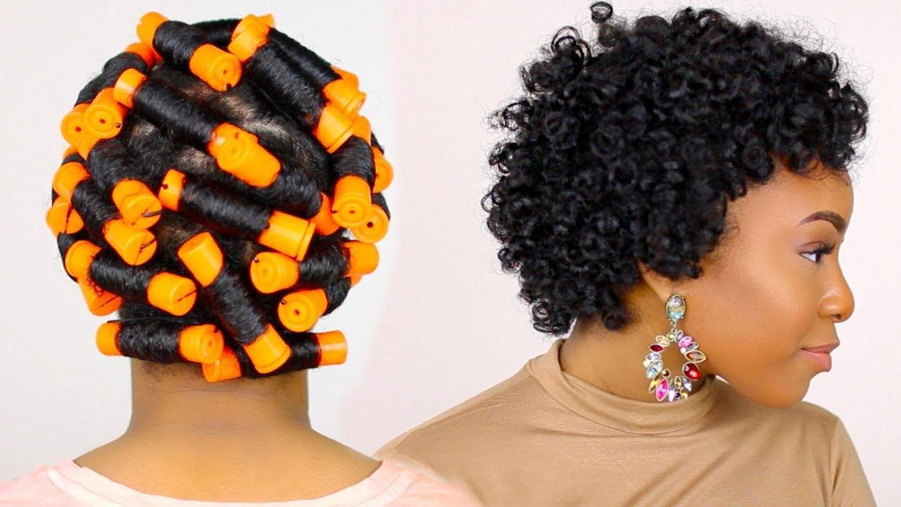 How to perm rod set on short natural hair tutorialnight time hair