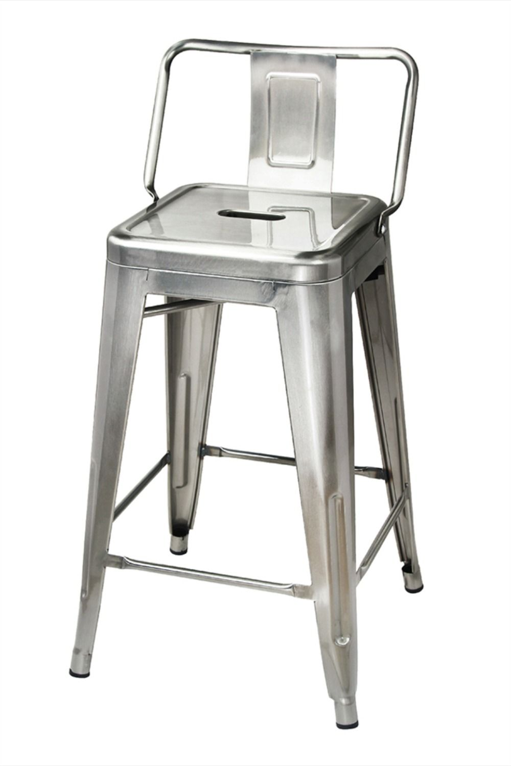 Details About 24 Low Back Metal Bar Stool Industrial Style