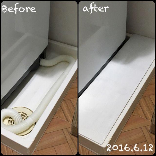 バス トイレ 排水口 日立ビートウォッシュ 洗濯機 しただけのインテリア実例 2016 06 13 08 50 13 Roomclip ルームクリップ 小さなランドリールーム インテリア 収納 バスルームのアイデア