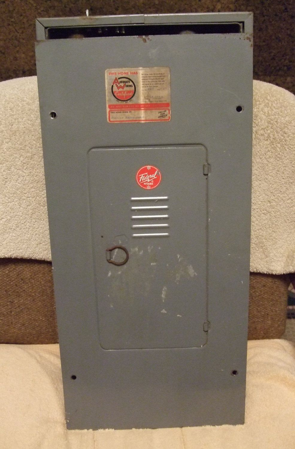 Federal Noark 200 Amp Electrical Breaker Box Panel 1957
