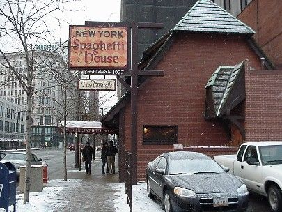 The New York Spaghetti House Was In Cleveland Cleveland