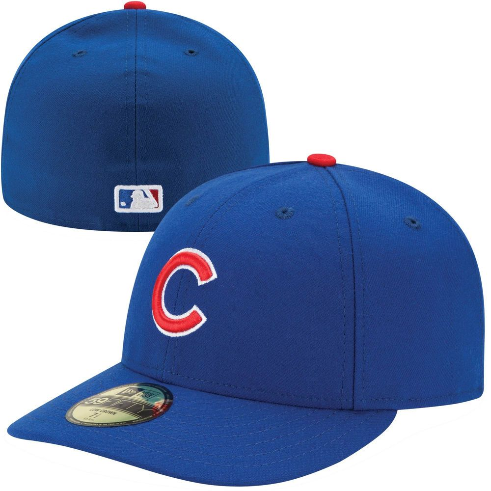 8fd5a88564b Men s Chicago Cubs New Era Royal Authentic Collection Low Profile Home 59FIFTY  Fitted Hat