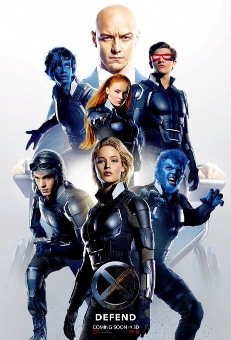 Professor X And His Kickass Crew Stand Ready To Defend In The New X Men Apocalypse Poster X Men Sieu Anh Hung Phim