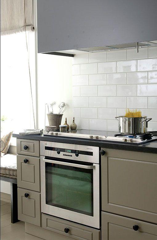 Pared de azulejos blancos Kitchen Pinterest Azulejos blancos