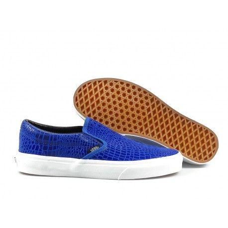 classic blue slip on vans