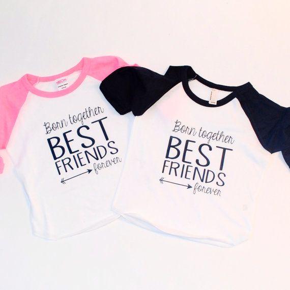 885e5b013 Twins T-shirt best friends forever Inspirational by blueenvelope ...
