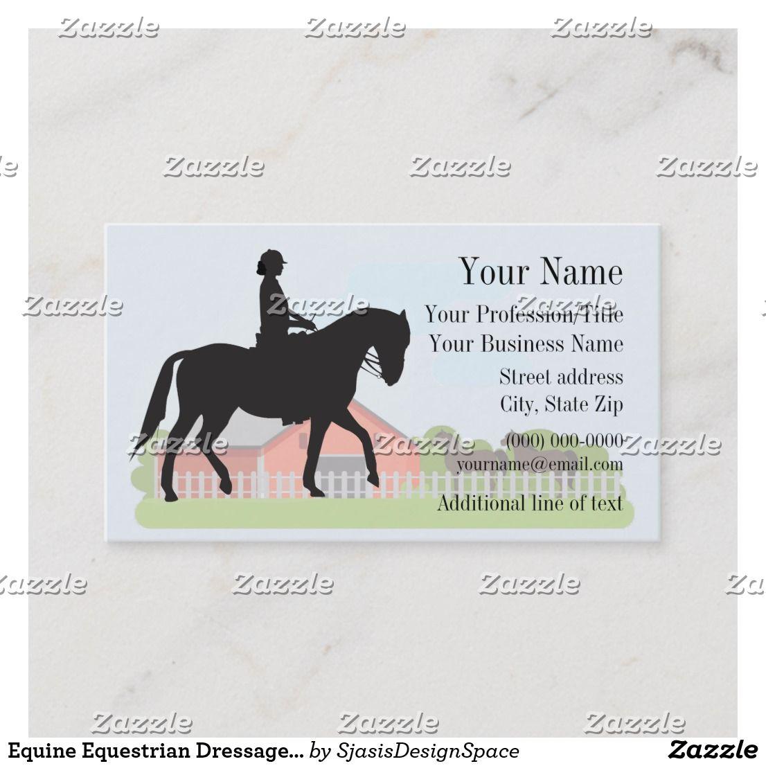 Equine Equestrian Dressage Business Card Zazzle Com Equestrian Dressage Dressage Cards