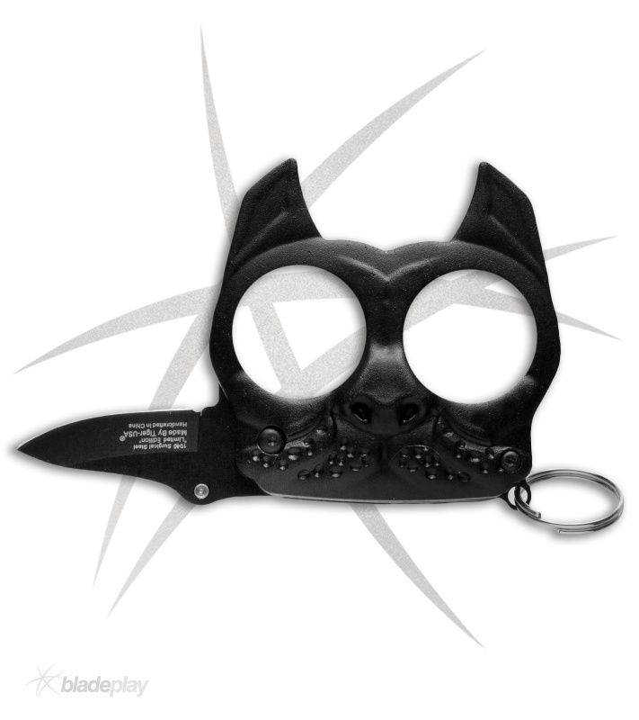 Mini Brutus Self Defense Keychain Black Spring Assisted Knife Global Knife Set Self Defense Keychain Self Defense