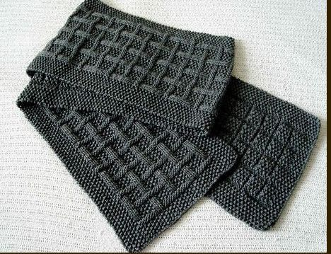 Knitting Patterns For Mens Scarf : diy gifts for men Seed stitch, Scarves and Scarf patterns