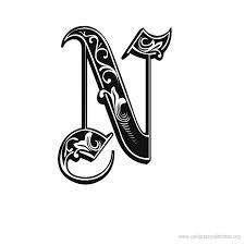 Google Image Result For Calligraphyalphabetorg Letter N Gothic Calligraphy Alphabet