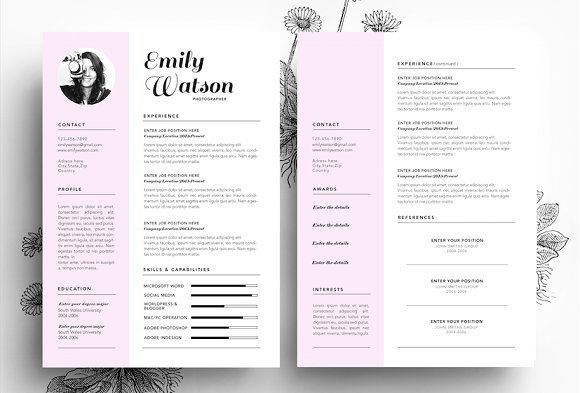 Resume + Business Card PSD File Resume, Boutiques and Business - resume business cards