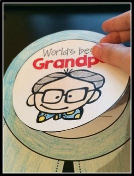 Grandparents Day Craftivity - a no prep September writing activity #grandparentsdaygifts