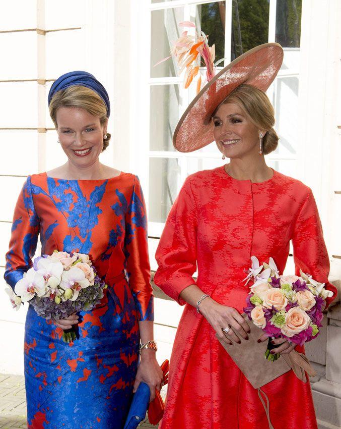 Máxima de Holanda y Matilde de Bélgica, el color de la Monarquía - Foto 1