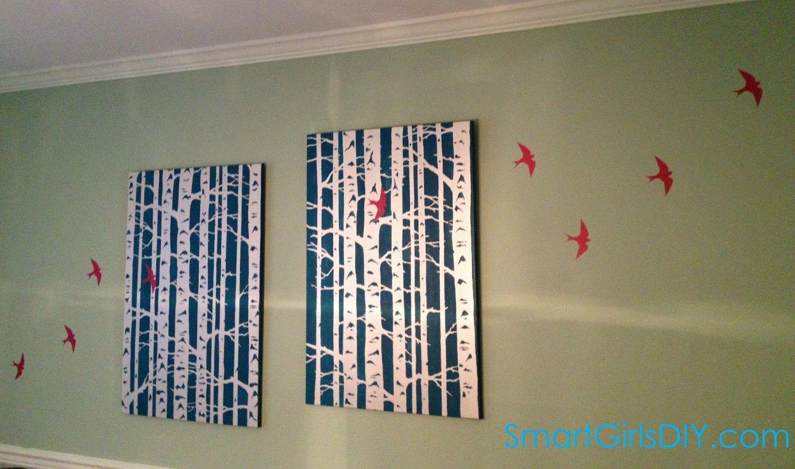 Birch Tree Wall Decal Aspen Trunk Wallpaper Vinyl Art Removable Plants b95