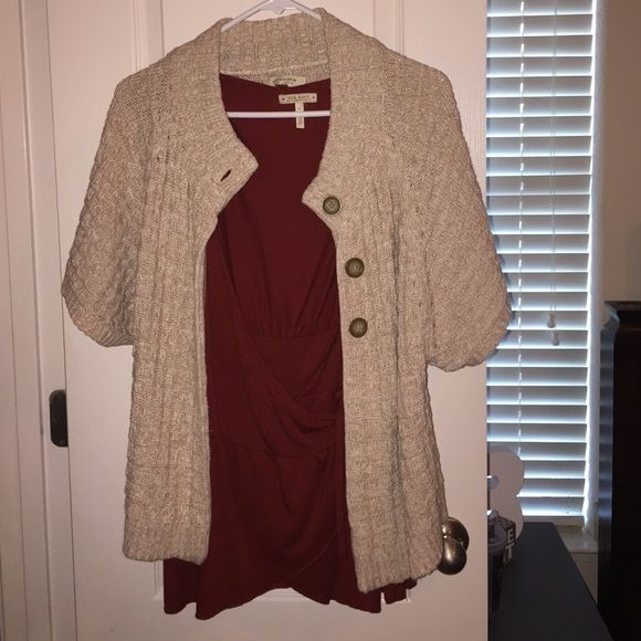 Cover Up & Blouse Super Cute. Cover up says medium but fits like a xl. Both sold together Sonoma Tops