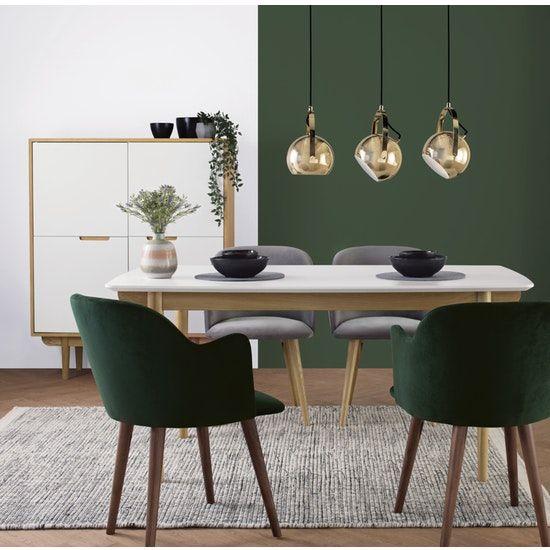 Anneli Dining Armchair Walnut Dark Green Velvet Oslo By Hipvan Hipvan Green Dining Room Dining Room Colors Contemporary Dining Room Design
