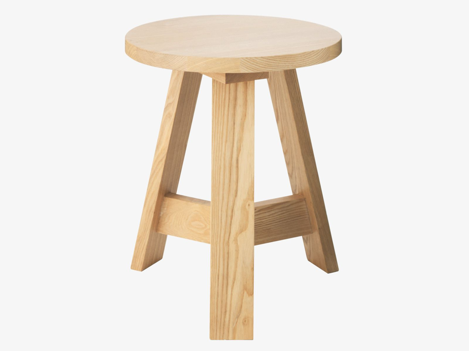 ETHAN NATURAL Wood Round stool Chairs and Benches HabitatUK