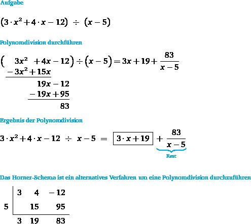 Polynomdivision Rechner Division Rechnen Lernen