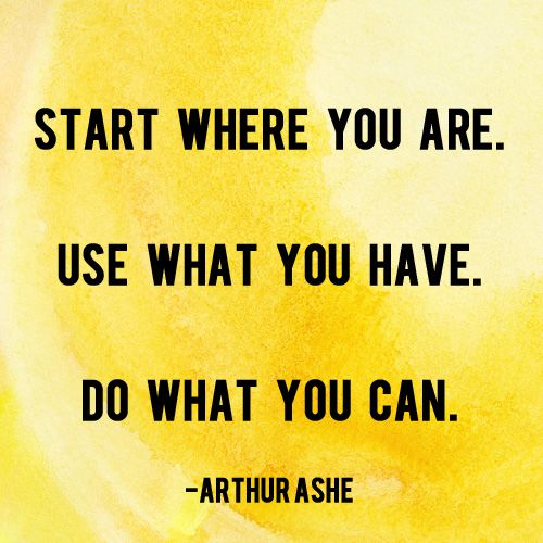 Arthur Ashe Quotes: Start Where You Are