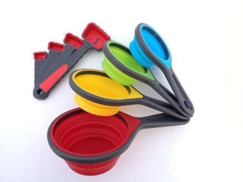 Portable Silicone Collapsible Measuring Cups And Spoons Great For The Chef  To Travel Perfect Kitchen Utensils