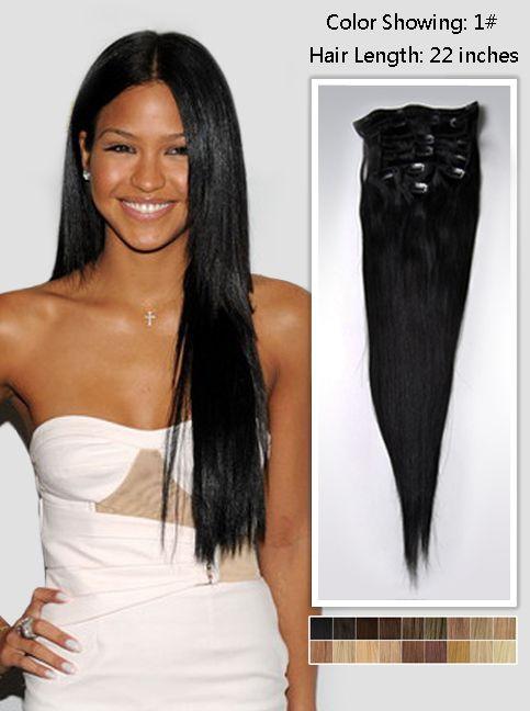 Long Black Straight Hair Extensions 125g Uss122 Black Hair