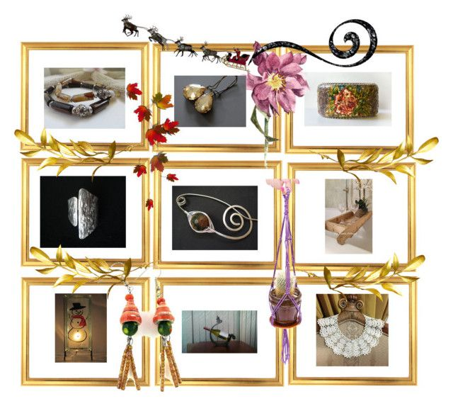 """""""Happy Holidays"""" by anna-recycle ❤ liked on Polyvore"""