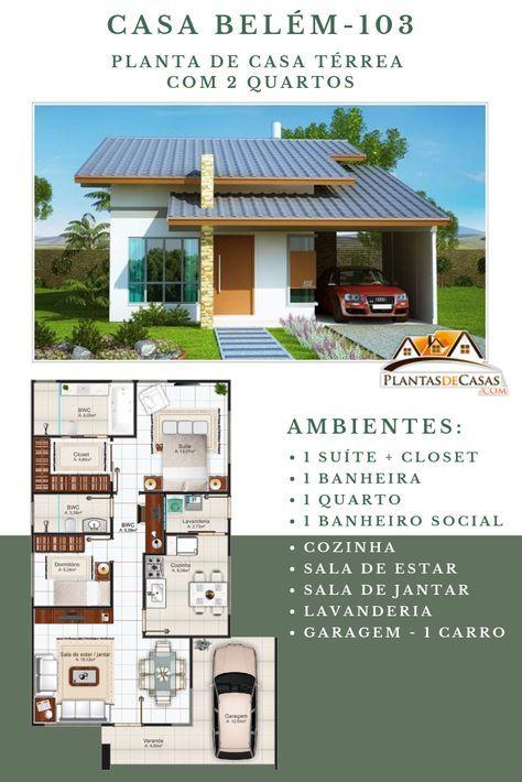 Projeto Arquitetônico: Casa Belém • Cód. 103 • R$ 490,00