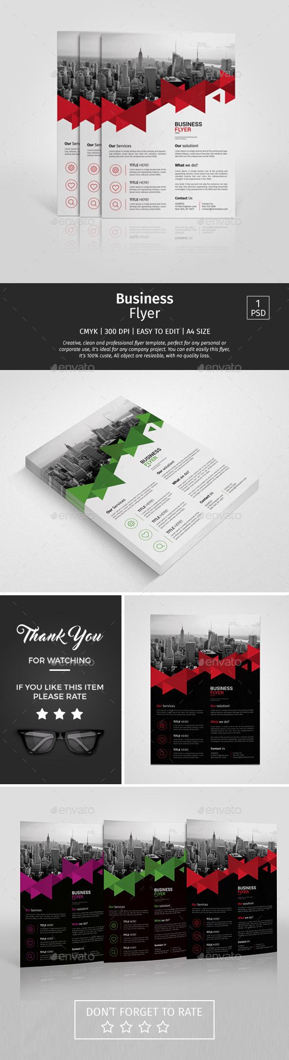 A4 Corporate Business Flyer Design Template Vol 09 - Corporate ...