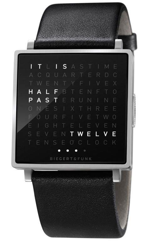 QLOCKTWO W Watch | Clocks, Wall clocks and German
