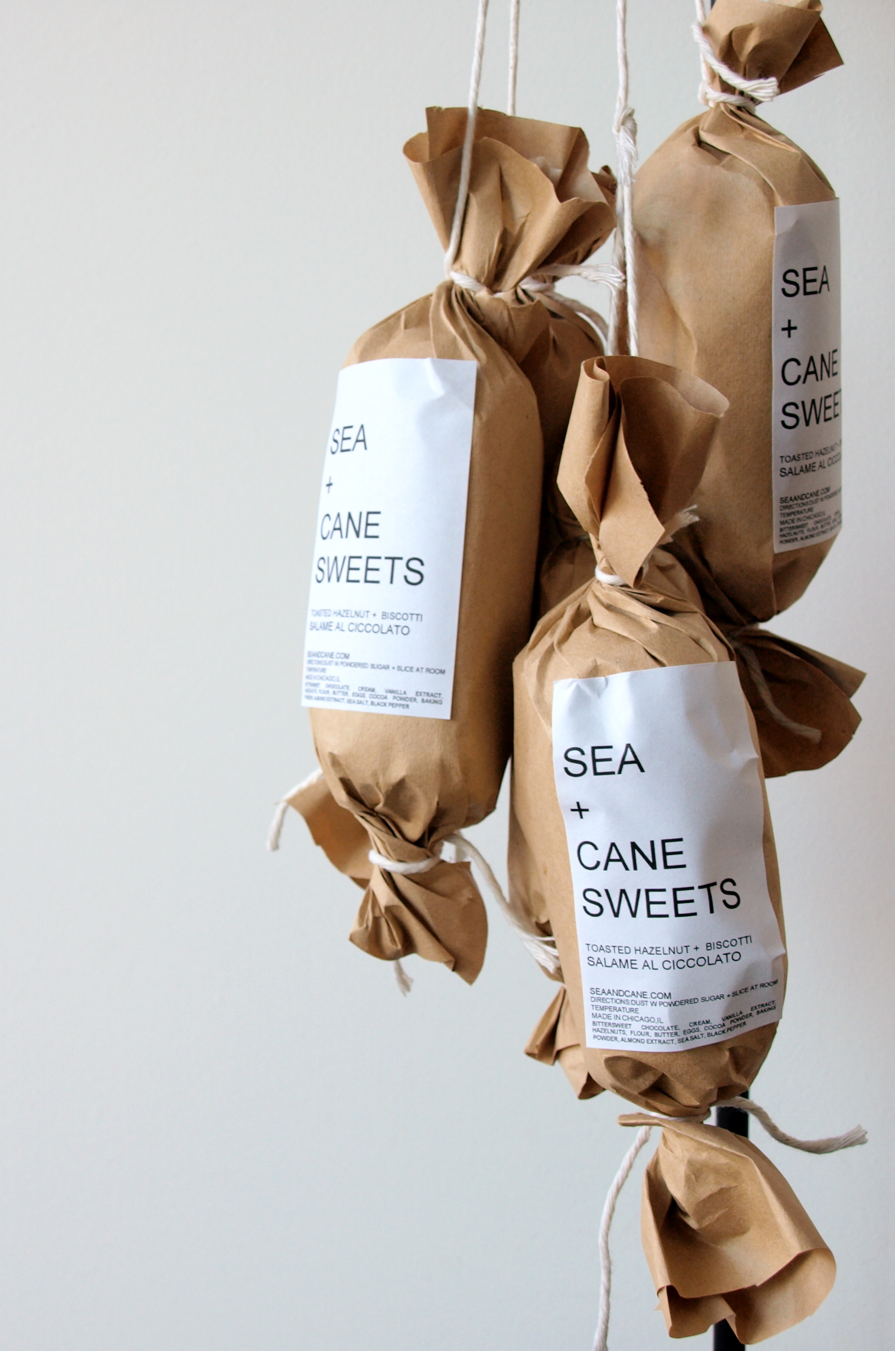 SALAME AL CIOCCOLATO package | Sea + Cane Sweets #packaging ...