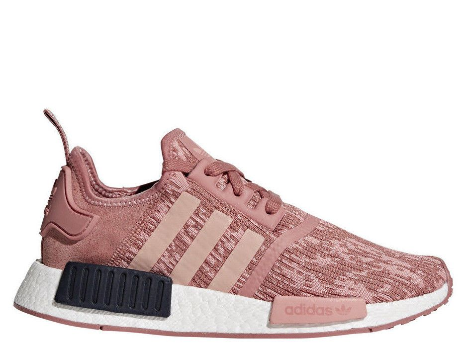 2a0419121  BY9648  Womens Adidas NMD R1 W Running Sneaker - Raw Pink Trace Legend Ink