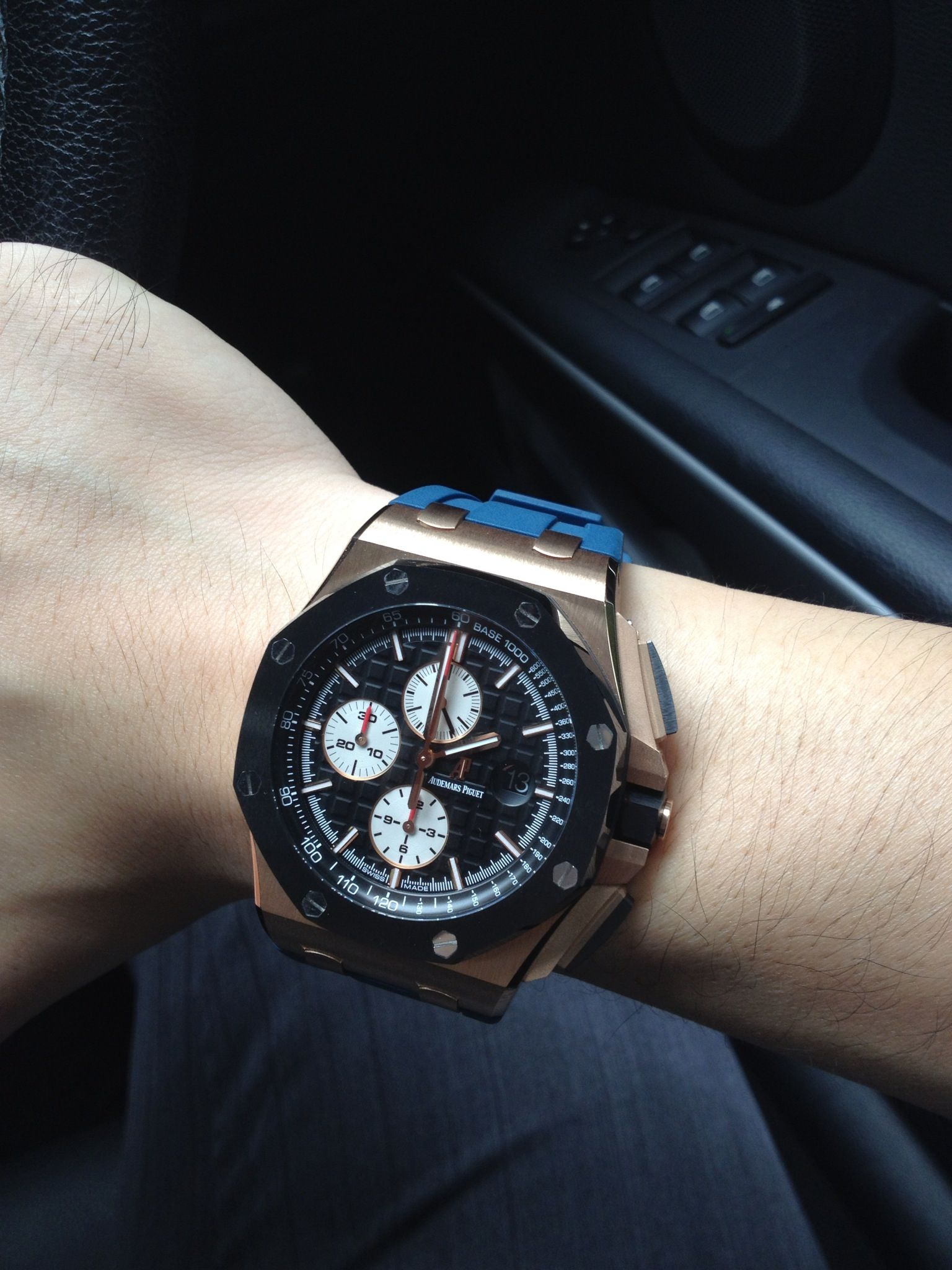 My AP Rosegold 26400RO on Blue Rubber Strap | Audemars ...