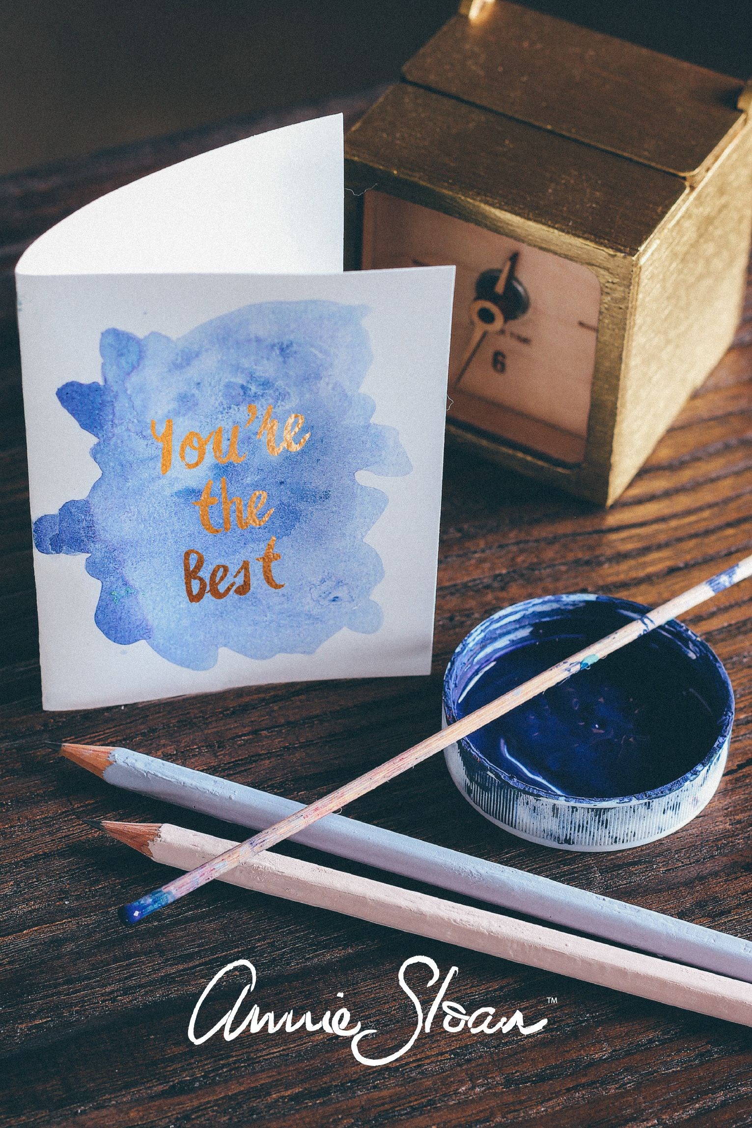 Use your left over Annie Sloan paint for making cards!