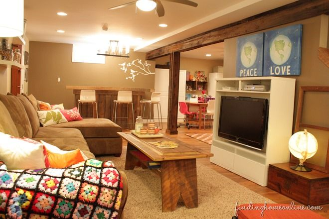 Lovely Small Basement Family Room Ideas