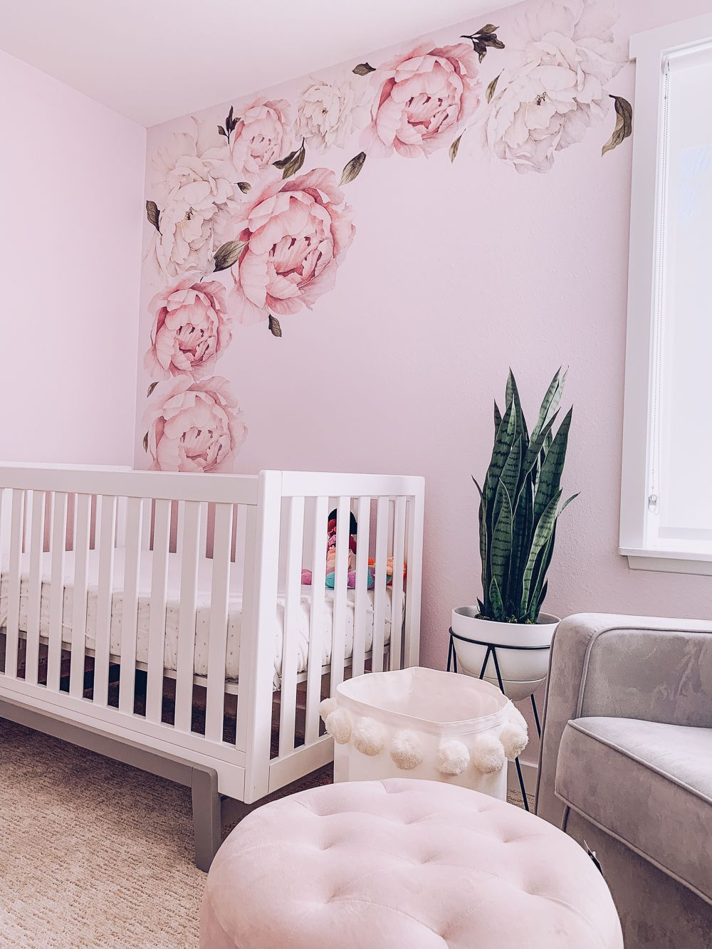 Office Decor Baby Girls Decor Wildflower Vintage Falling Flowers Floral Decor Purple Blue Decor Red Nursery Wall Decals