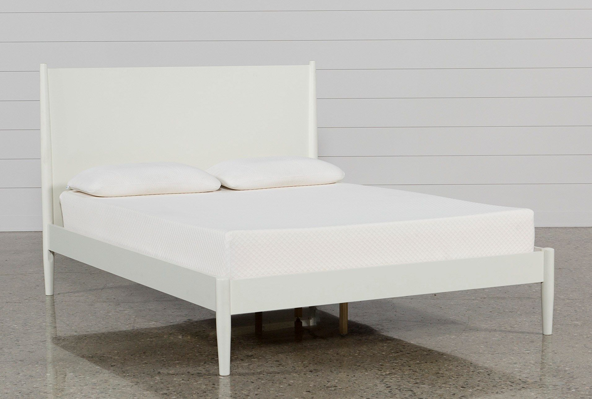 Alton White Queen Platform Bed White Platform Bed Full Platform