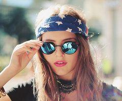 mirrored sunglasses, 60's boho style
