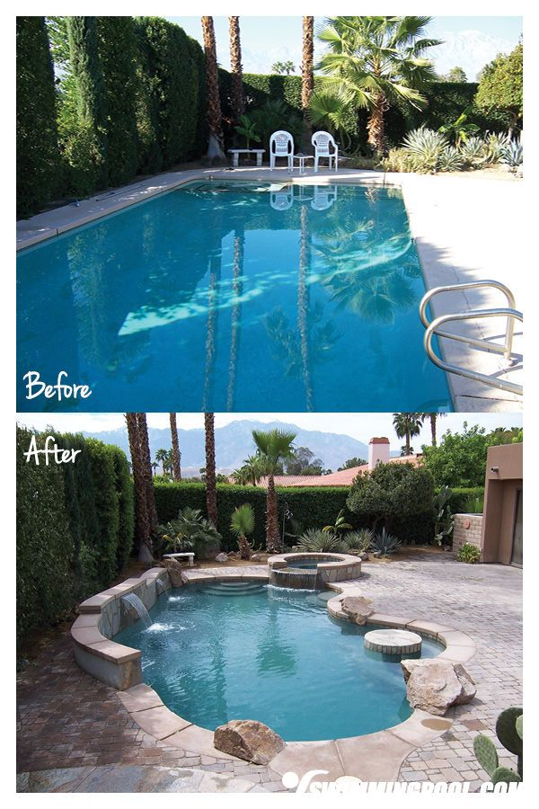 New Pool Remodel With Swim Up Bar Pool Remodel Swimming Pool Renovation Pool Renovation