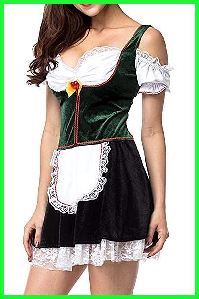 Zonsaoja Damen Oktoberfest Kostüme Deutschen Dirndl Mini