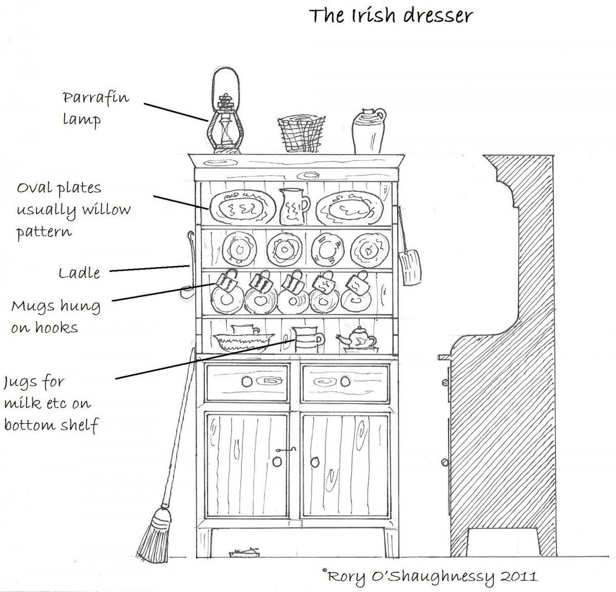 Traditional House Irish Dresser