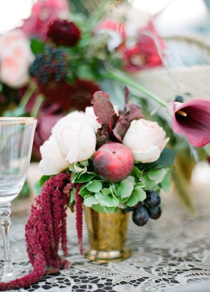 Boho Chic Style New York Wedding Wedding Centerpieces Chic