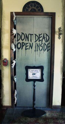 Zombie elevator on Halloween Forum #halloweendoordecorations