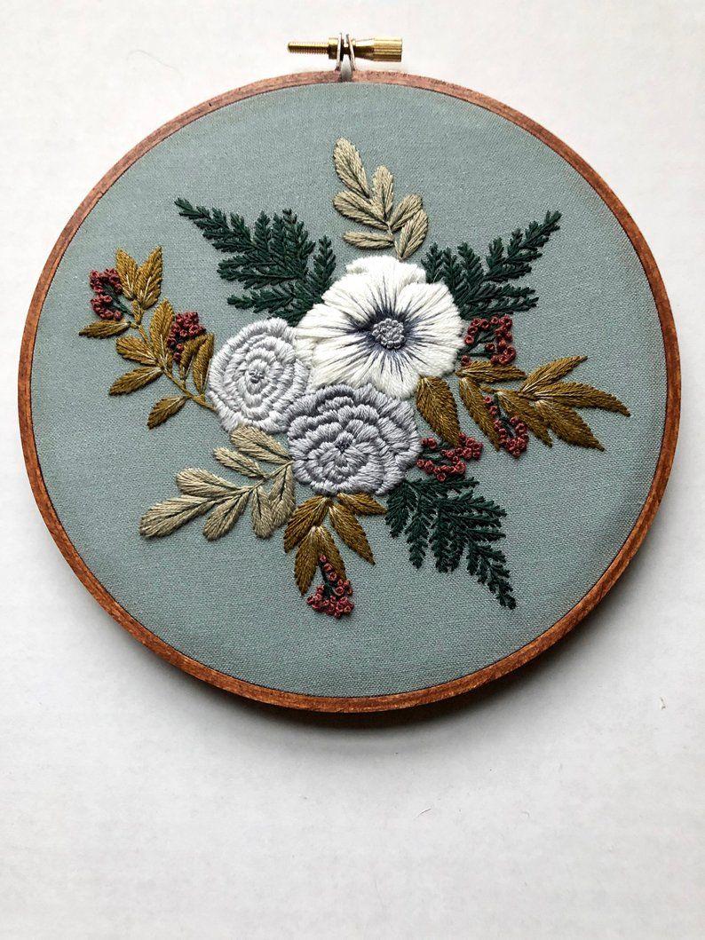 Embroidery Kit Beginner Embroidery Hoop Art Hand Embroidery Art Modern Embroidery DIY Kit Embroidery Pattern Beginner Hoffelt and Hooper #embroiderypatternsbeginner