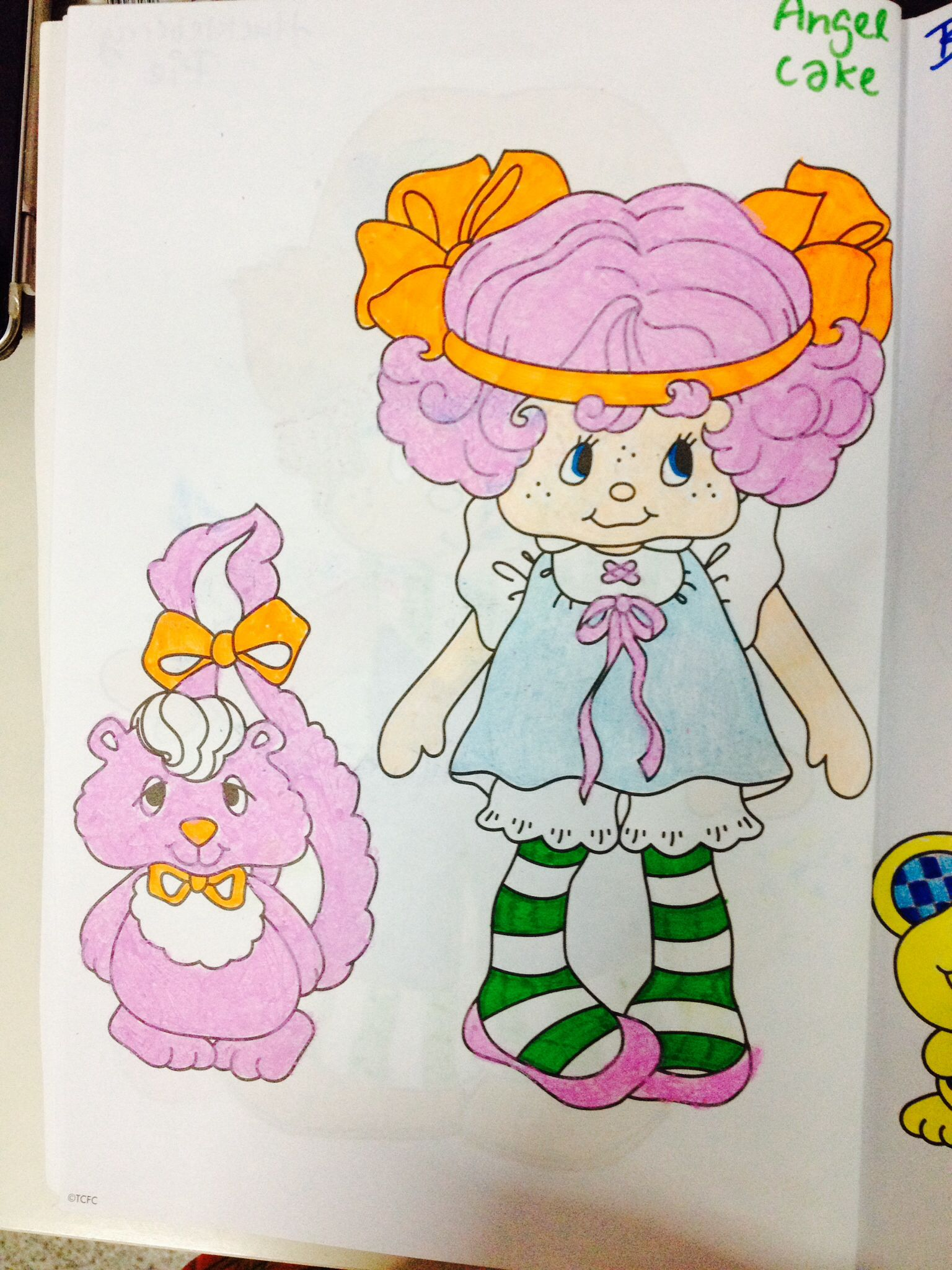 Angel Cake | Strawberry Shortcake 30th Sweet Years Coloring Book ...