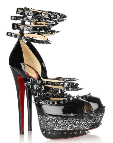 quality design f1dcf cb401 Christian Louboutin Sexy Black Strappy Heel | Shoes & Boots ...