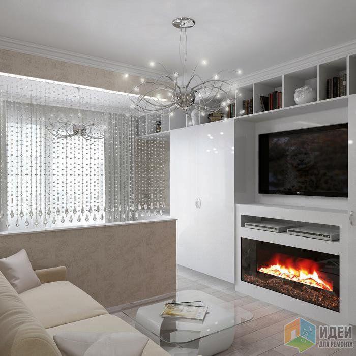 Дизайн гостиная спальня 16 кв м