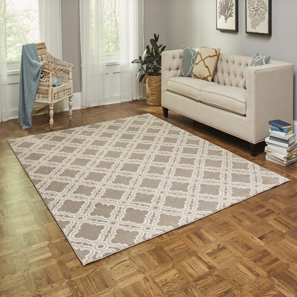 Lifeproof Norfolk Sandstone 5 Ft X 7 Ft Area Rug Hr104 635 5x7
