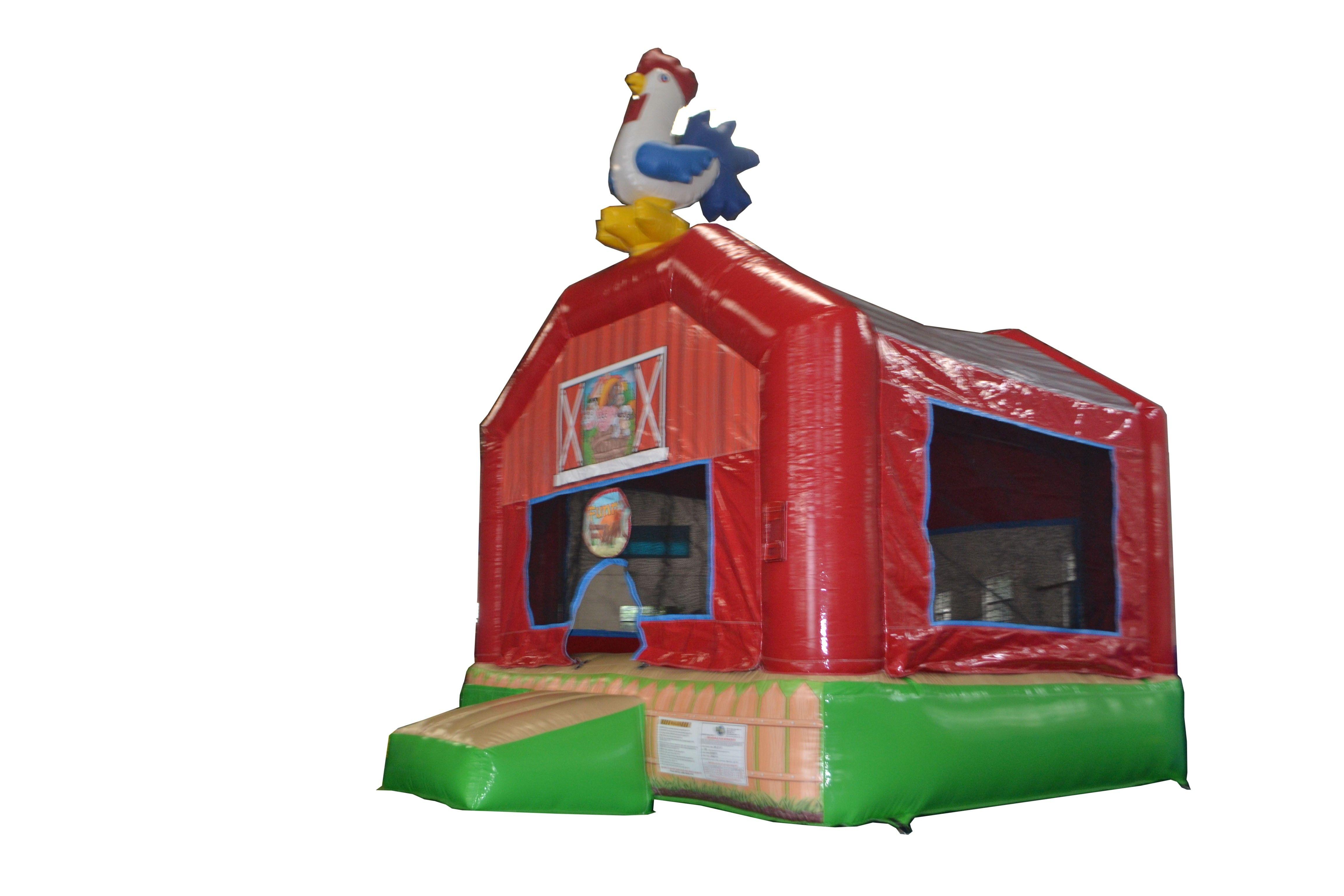 funny farm inflatable barnyard bounce house