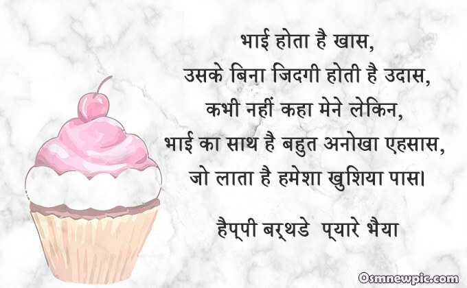 Birthday Wishes In Hindi For Brother Happy Birthday Brother