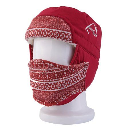Fashion Unisex Warm Winter Cap Hat Lady Ear Flaps Ski Hats Earmuffs Mask 54279238316